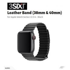 3SIXT Leather Loop Band - Apple Watch 38/40mm - Black