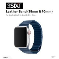 3SIXT Leather Loop Band - Apple Watch 38/40mm - Blue