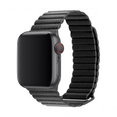 3SIXT Leather Loop Band - Apple Watch 42/44mm - Black