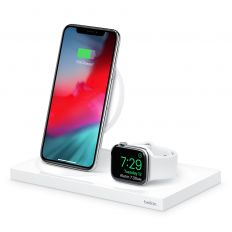 Belkin Boost Up 7.5W Charging Dock for Apple Watch/iPhone - White