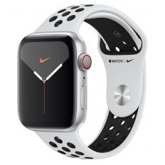 Apple Watch Nike Series 5 GPS + Cellular, 44mm Silver Aluminium Case with Pure Platinum/Black Nike Sport Band