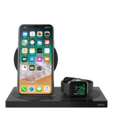 Belkin Boost Up 7.5W Charging Dock for Apple Watch/iPhone - Black